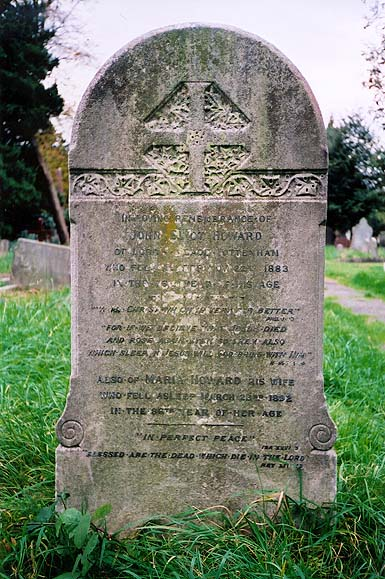 Gravestone of John Eliot and Maria Howard